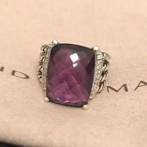 David Yurman Jewelry - David Yurman Wheaton Ring With Amethyst & Diamonds